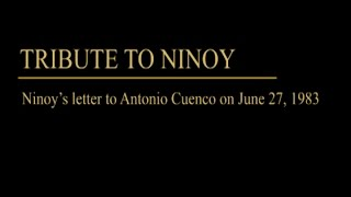 Ninoy Aquino's letter to Antonio Cuenco on June 27, 1983