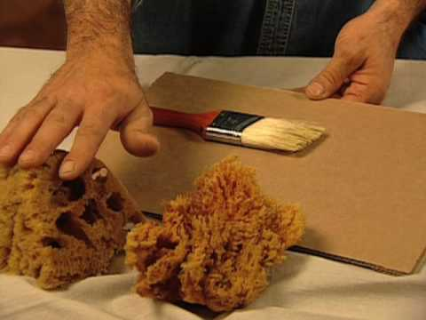 Cómo pintar con una esponja
