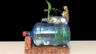 How to make fish tank at home ideas - Diy aquarium of bottle art - Home decoration