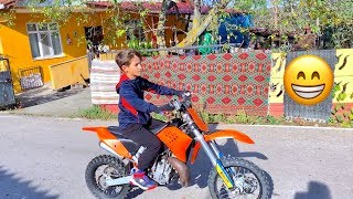 Babam Sonunda Aldı. Cross Motor Aldım. 9. Yaş Doğum Günü Hediyem. HÜSO