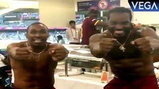 Chris Gayle & Dwayne Bravo Dance On Dj Bravo Champion Song