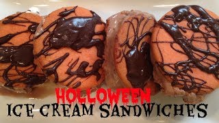 HOW TO MAKE HALLOWEEN ICE CREAM SANDWICHES | ThymeWithApril