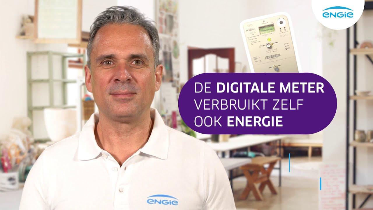 De digitale meter verbruikt zelf ook energie.