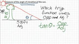 Angle Of Elevation Word Problem 2
