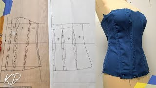 MAKING A CORSET PATTERN - MY FIRST ATTEMPT PART 1