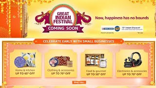 Amazon Great indian Sale 2020, Great Indian Festival Amazon 2020