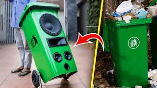 recycle-garbage-can-into-pull-rod-speaker