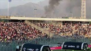 Incidentes obligan a suspender partido entre Colo Colo y Universidad Católica
