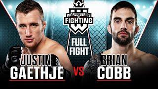 Full Fight   Justin Gaethje vs Brian Cobb   WSOF 3, 2013