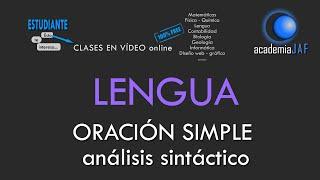 ORACIÓN SIMPLE. Análisis sintáctico en 10 pasos - Lengua española sintaxis - academia JAF
