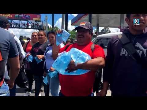 Ciudadanos compartieron agua con manifestantes
