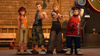 Playable Roxas with Twilight town gang in KH2 outfits - KH3 mods