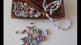 Papierperlen einfach selbst machen. Teil 3:Perlen glänzend und hart machen