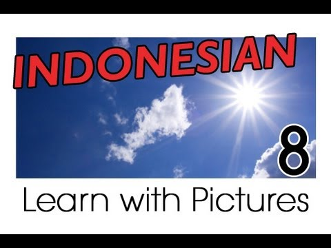 Learn Indonesian Vocabulary With Pictures - Weather Forecast Says...