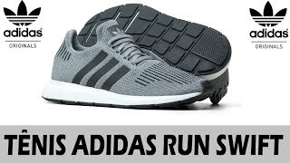 pretty nice 79932 03d98 Adidas SWIFT RUN - Tênis estiloso e confortável - Unboxing - hmong.video