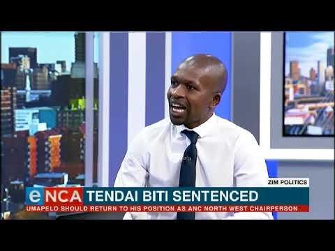 Tendai Biti sentenced for claiming poll win