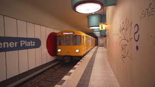 Germany, Berlin, U-Bahn ride from Nauener Platz to Osloer Straße