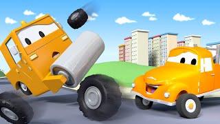 Каток Стив - Эвакуатор Том в Автомобильный Город  🚗 детский мультфильм