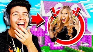 5 WAYS TO PRANK YOUR WIFE'S MINECRAFT HOUSE!