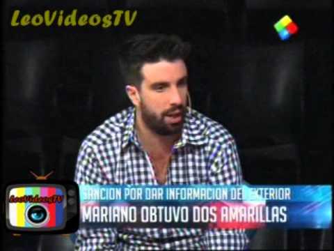Mariano sancionado con dos Amarillas por contar informacion del afuera GH 2015 #GH2015 #GranHermano