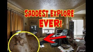 Exploring The Saddest Abandoned Time Capsule House (SHE DIED HERE)