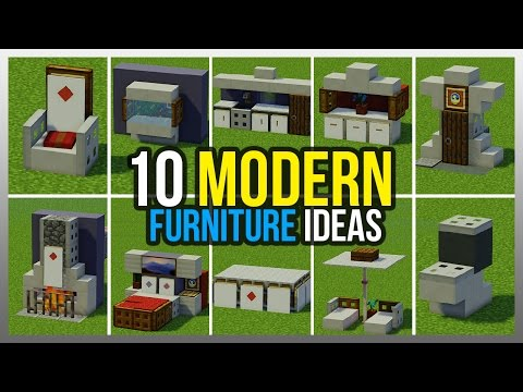 Minecraft ideas for house furniture