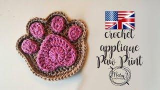 Crochet Paw Print Applique   MARYJ HANDMADE