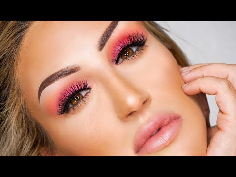 HOT PINK SMOKEY EYE TUTORIAL FT. PUR X BARBIE COLLECTION