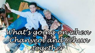 What's going on when Chanyeol and Sehun together