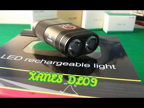 Потужний і компактний велосипедний ліхтар із вбудованим акумулятором XANES DL09/1000LM/