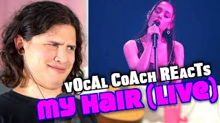 Vocal Coach Reacts to Ariana Grande - My Hair (Live)