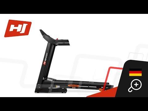 Hop-Sport electrisches laufband HS-1402  mit Bluetooth 15 trainingsprogramme + Unterlegmatte