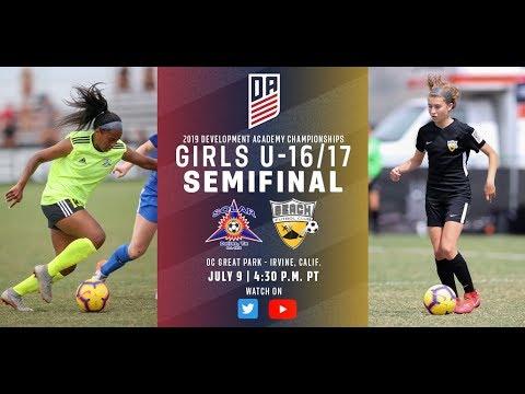 2019 Development Academy Finals: U16/17 Girls Semifinal - Solar SC vs. Beach Futbol Club