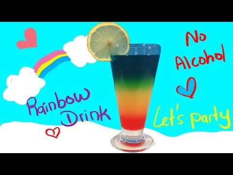 Video Rainbow Drink-Non-alcohol-Cocktail-For KIds-Awesome