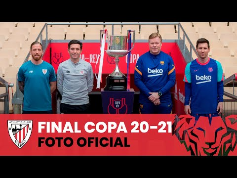 📸 Entrenadores y capitanes I pre Athletic Club – FC Barcelona I Final Copa 20-21