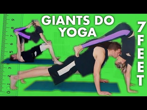 YOGA CHALLENGE!! ARE TALL PEOPLE BETTER AT YOGA??