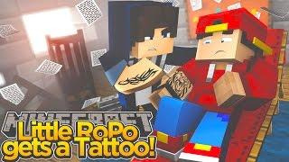 Minecraft Adventure - LITTLE ROPO GETS A TATTOO!!