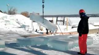 preview picture of video 'Building the Ice Castle Mayville, NY February 4, 2011'