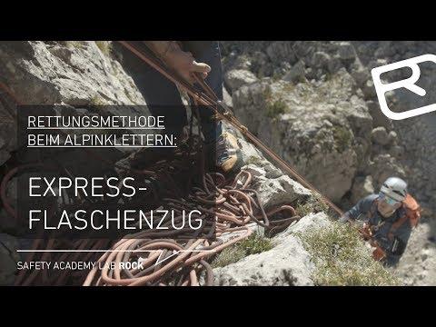Expressflaschenzug: Rettungsmethode beim Alpinklettern - Tutorial (42/43) | LAB ROCK