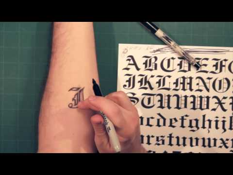 Sharpie Tattoo: Lettering And Fonts How-To Mp3