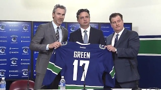 Canucks introduce Travis Green as head coach