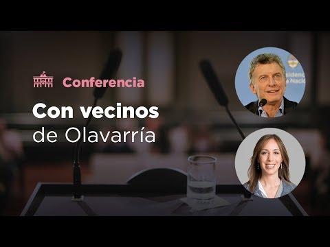 El presidente Mauricio Macri mantiene una reunión con vecinos en Olavarría