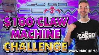 🎰 MASSIVE $100 Claw Machine Challenge 🎰