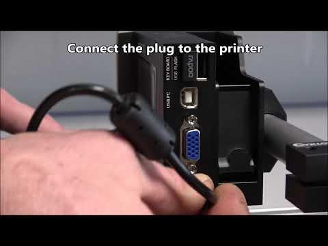CM 100: Connect the printer