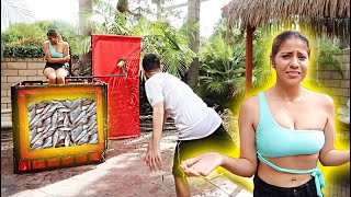 YOU WON'T BELIEVE WHAT'S INSIDE THE DUNK TANK...