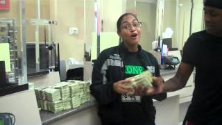 Floyd Money Team Mayweather at The Bank Making A Deposit