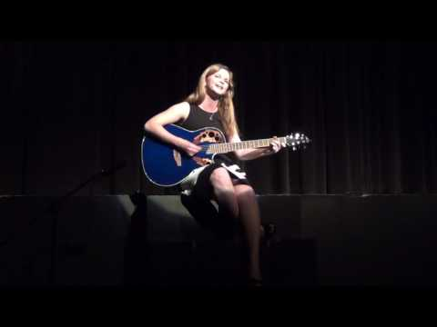 "Alyssa performing her original piece ""Dance Alone"""