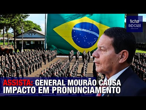 ASSISTA: GENERAL MOURÃO FAZ PRONUNCIAMENTO SOBRE O GOVERNO BOLSONARO E O FUTURO DO BRASIL