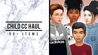 Child CC Haul // 50+ ITEMS - Hair, Clothes, Accessories, Shoes + Full CC List (THANK YOU FOR 50K ♡)