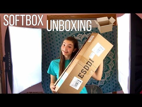 Esddi 20 x28 softbox photography lighting kit (800 W) unboxing and review  | My Life Fast Forward